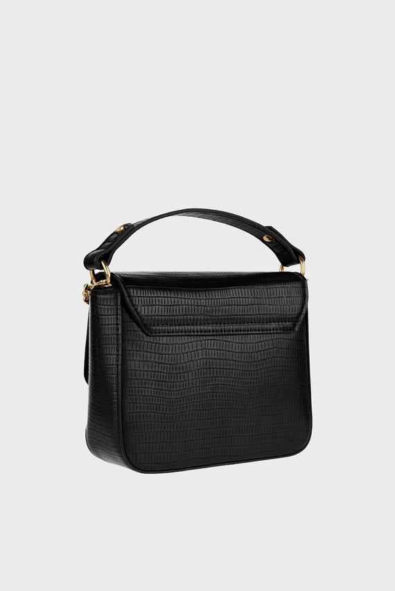 Женская черная сумка через плечо OLIVE LOCK