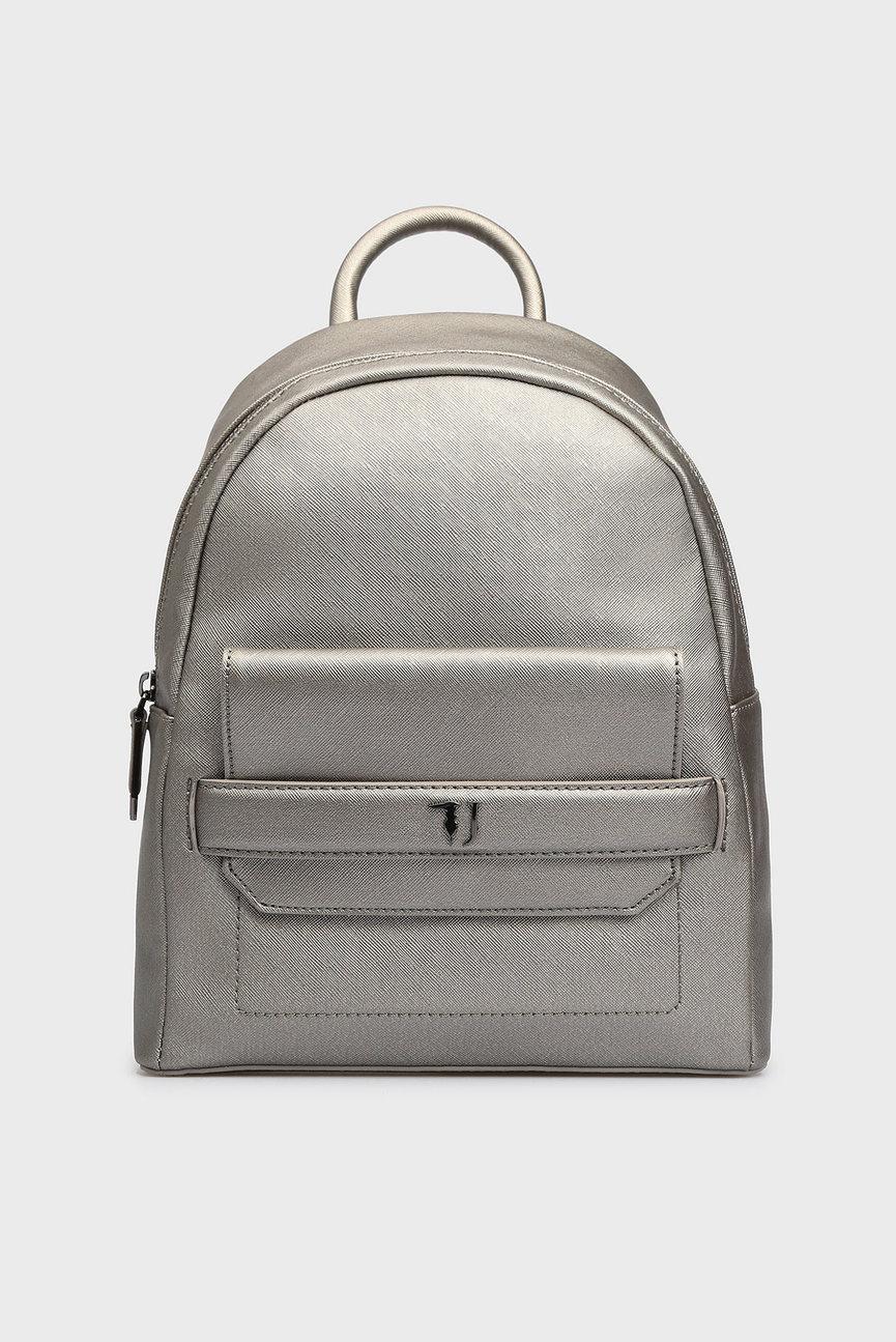 Женский серебристый рюкзак