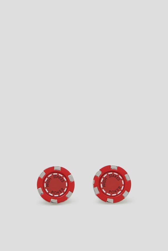Мужские красные запонки HIGH STAKES POKER CHIP