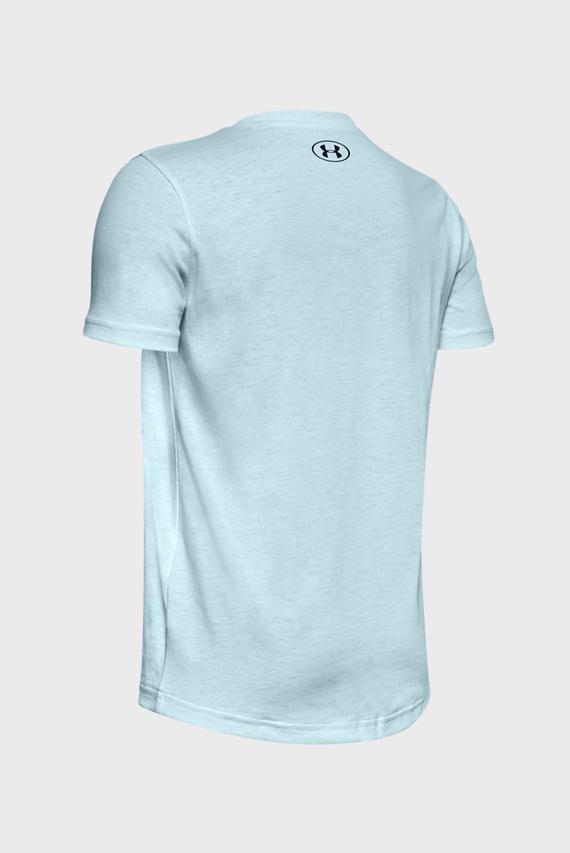Детская голубая спортивная футболка Sportstyle Logo SS