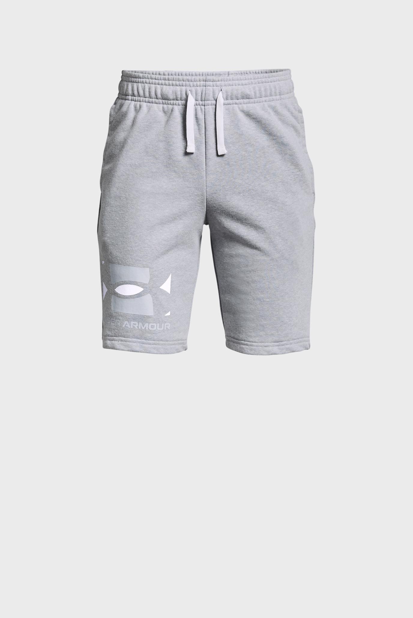 Детские серые шорты UA RIVAL TERRY BL SHORTS 1