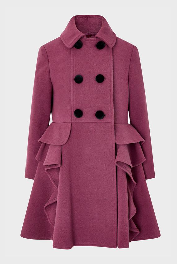 Детское фиолетовое пальто Eva Coat