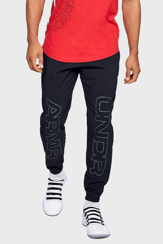 Мужские черные спортивные брюки UA BASELINE WOVEN JOGGER