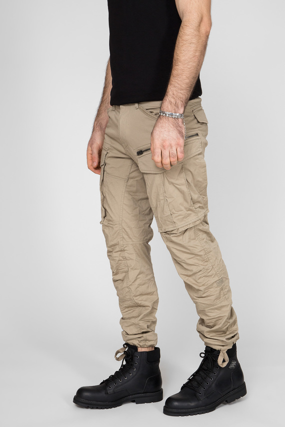 Мужские бежевые карго Rovic Zip 3D tapered