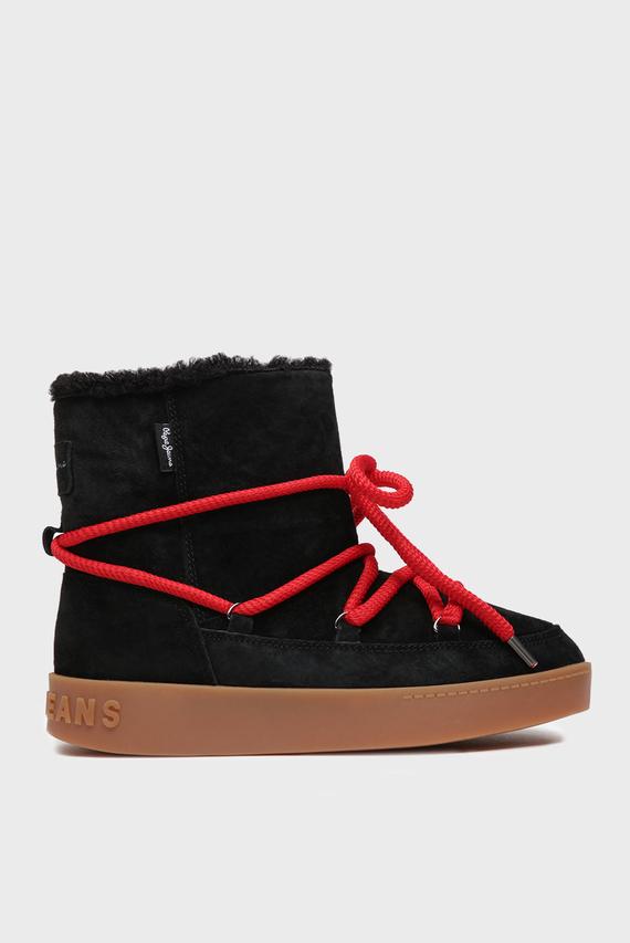 Женские черные замшевые ботинки BRIXTON WARM