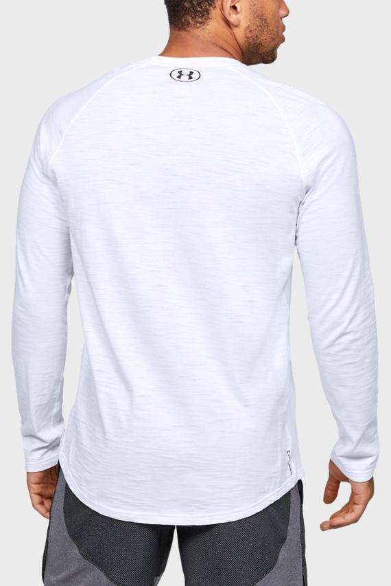 Мужской белый спортивный лонгслив Charged Cotton LS