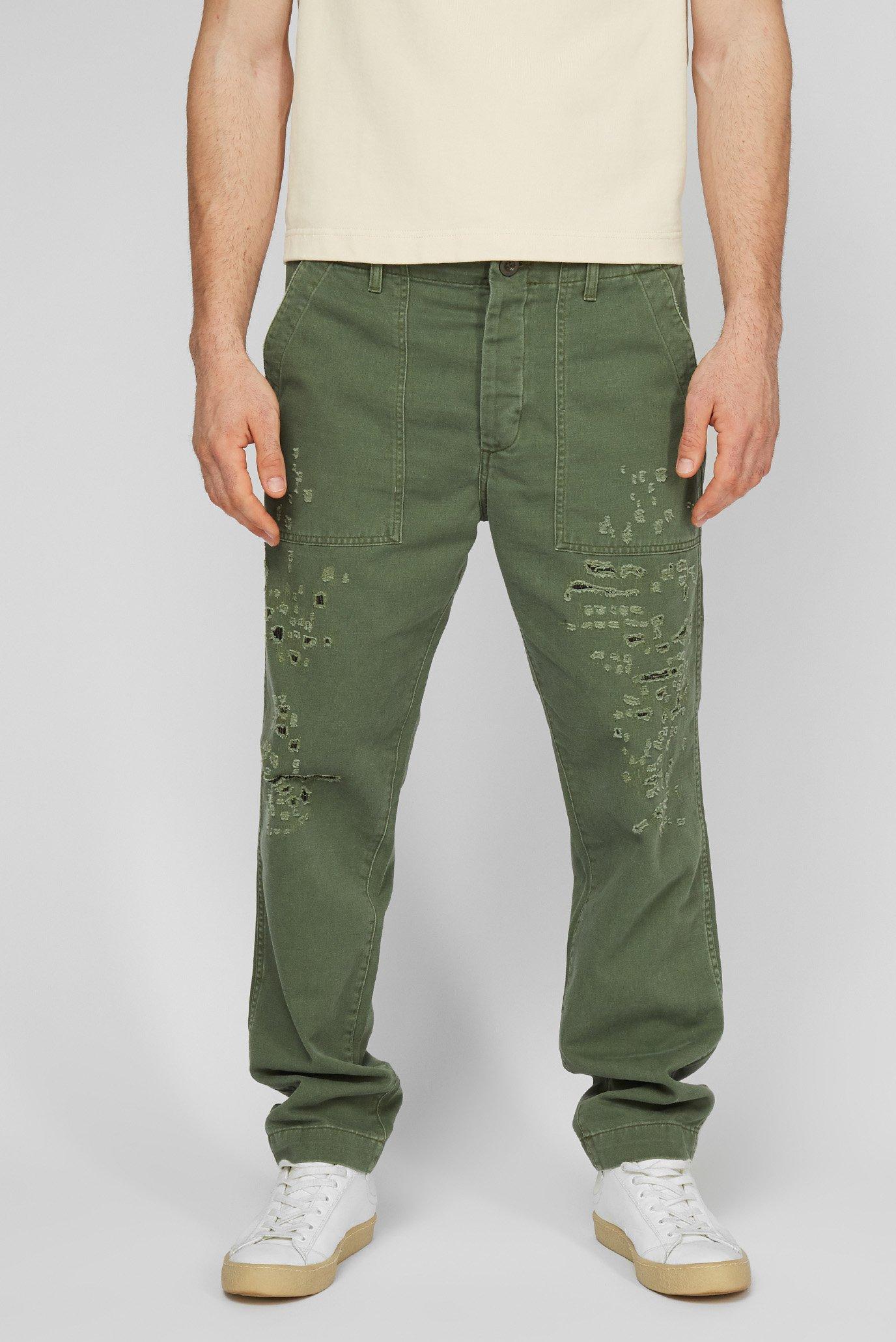 Мужские зеленые брюки 1