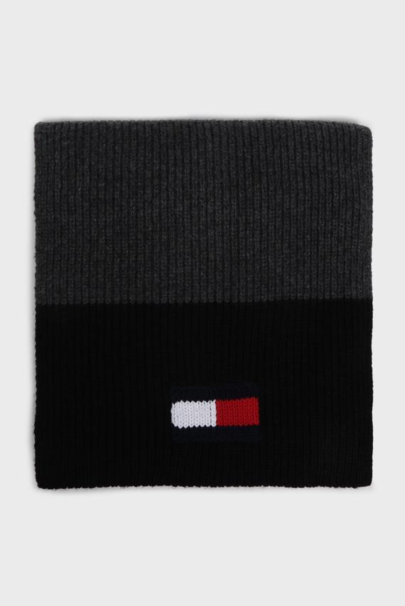 Мужской серый шарф BIG FLAG