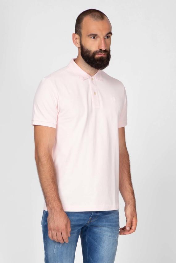 Мужское розовое поло Dunda slim