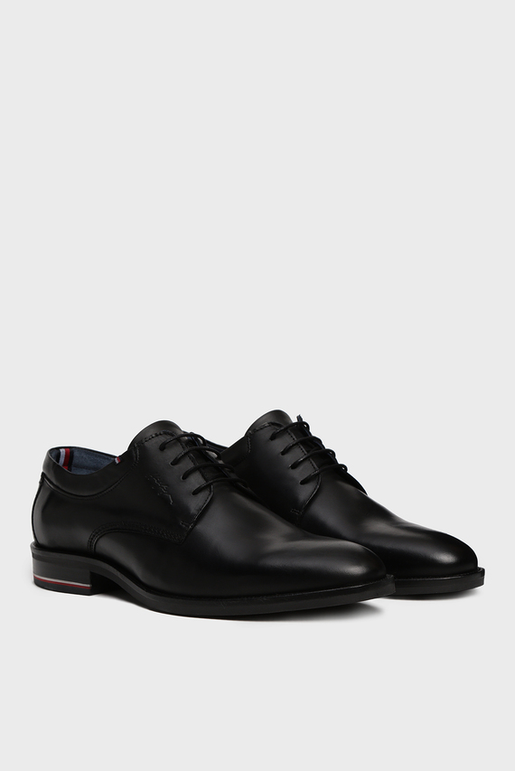 Мужские черные кожаные дерби SIGNATURE SMOOTH