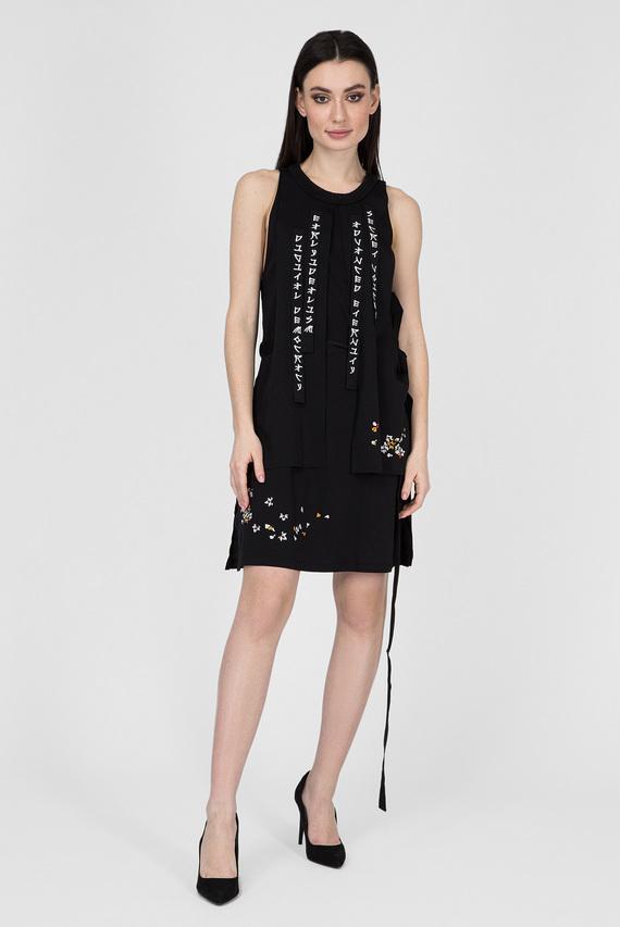 Женское черное платье D-SOLA