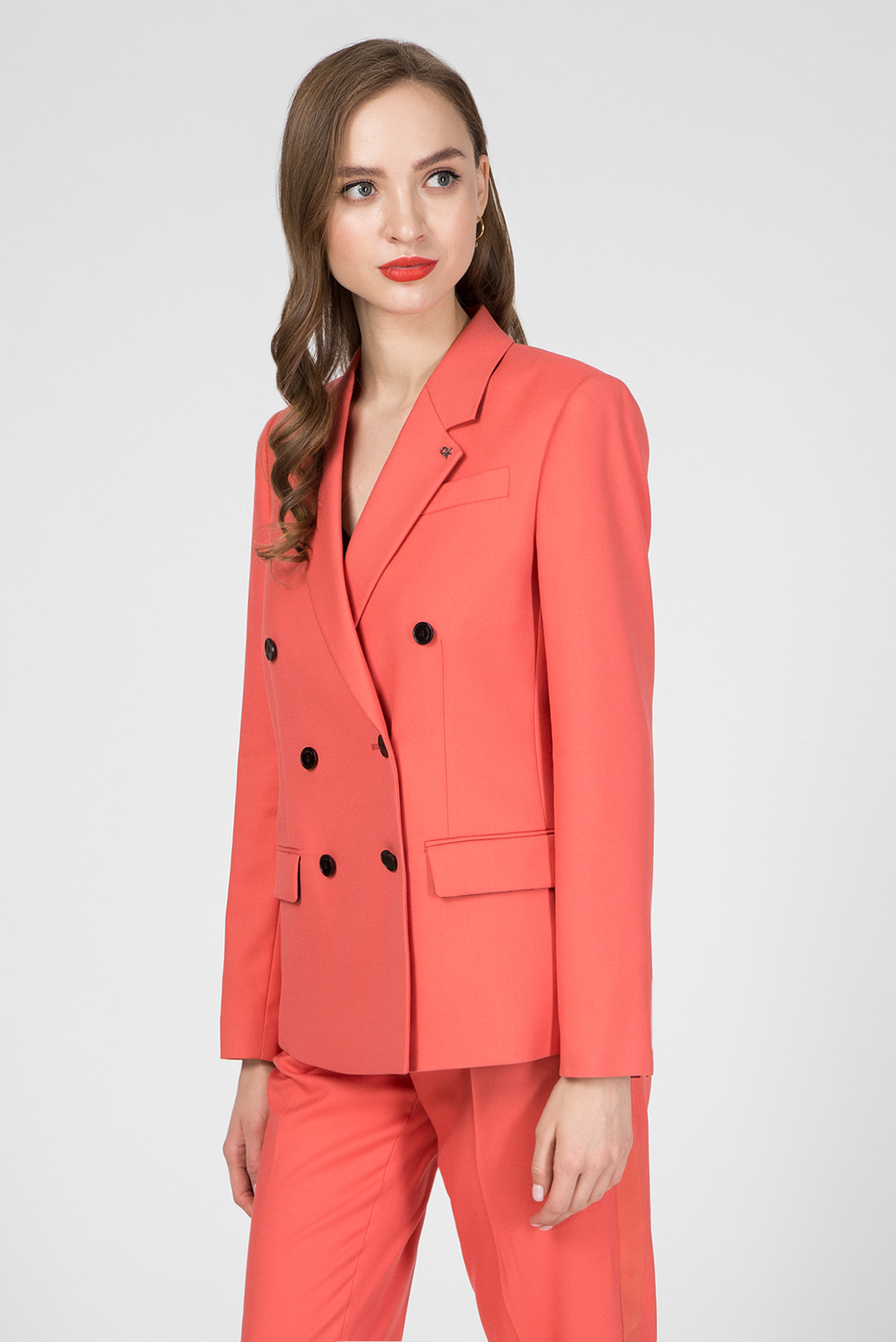 Женский оранжевый жакет DB NOTCH LAPEL Calvin Klein