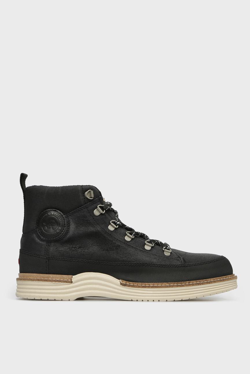 Мужские черные кожаные ботинки EDMUND