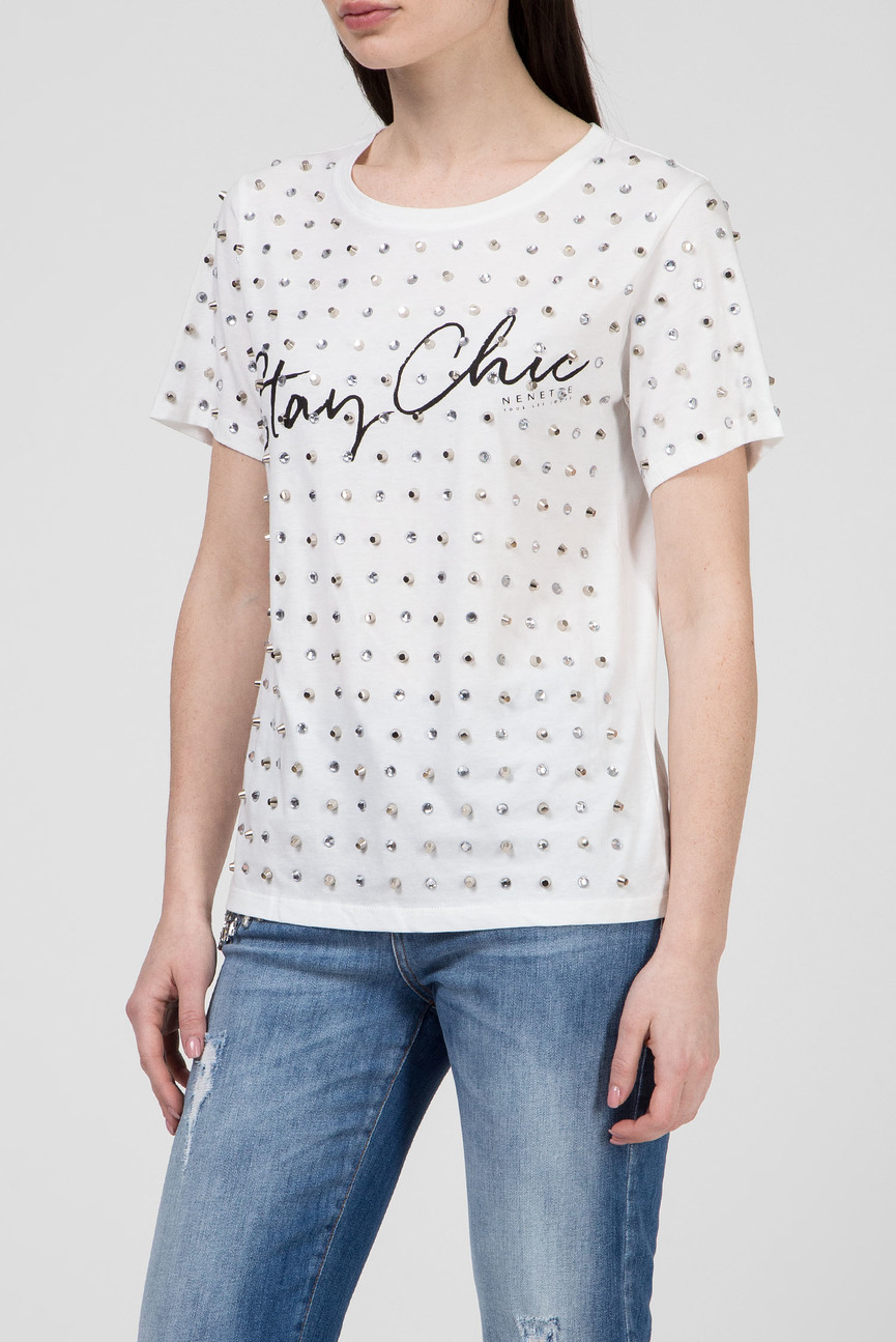 Женская белая футболка DODA