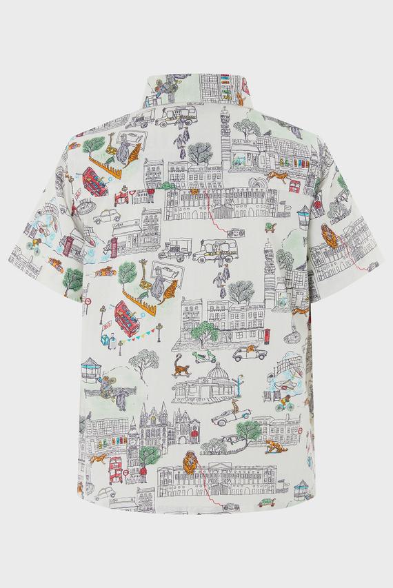 Детская бежевая рубашка HARRY HERRINGBONE SHIRT