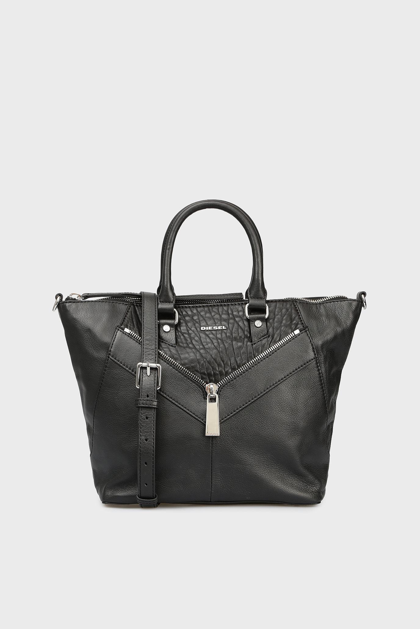 844ed276a316 Купить Женская черная кожаная сумка на плечо Diesel Diesel X04842 P0804 –  Киев, Украина. Цены в интернет ...