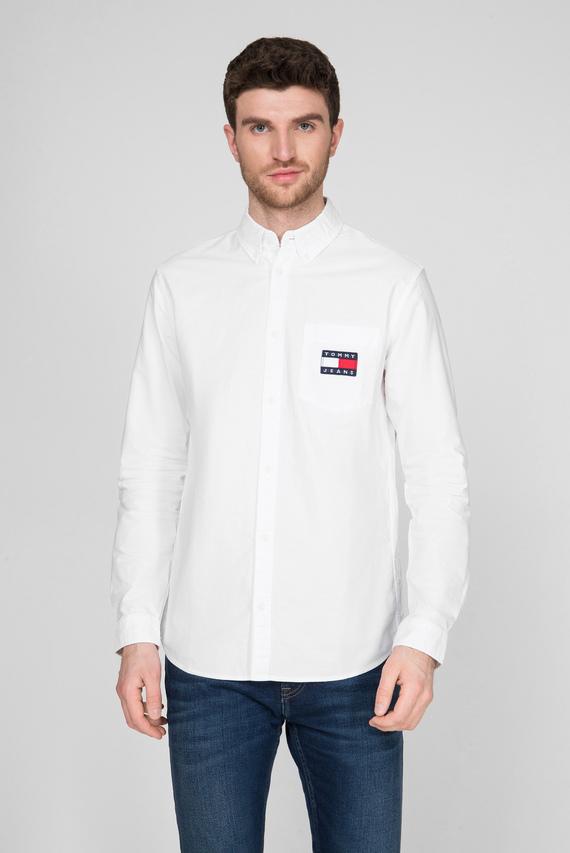 Мужская белая рубашка TJM OXFORD BADGE