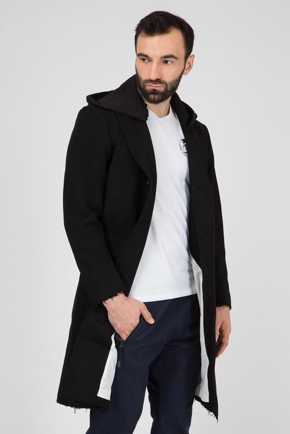 Мужское черное пальто W-DEXTER GIACCA