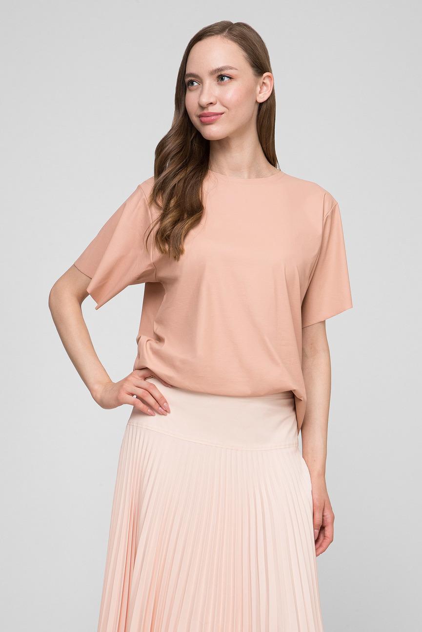 Женская пудровая блуза