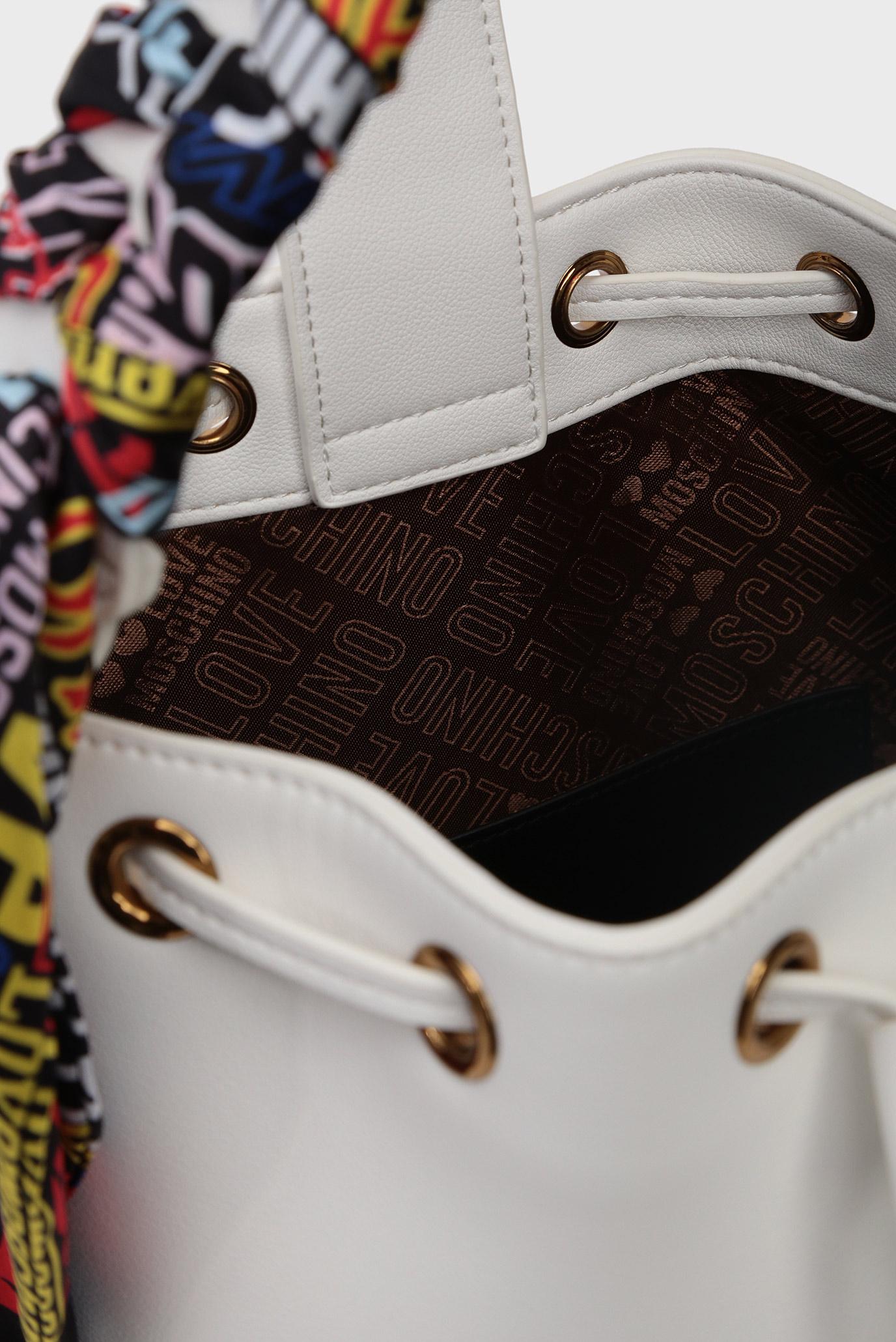 Женская белая сумка на плечо Love Moschino