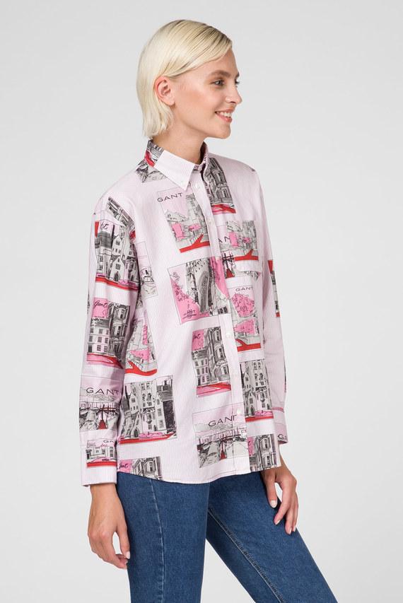 Женская розовая рубашка LEARNING BOYFRIEND SHIRT
