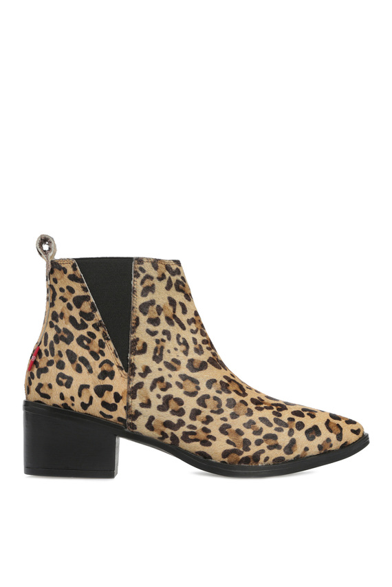 Женские леопардовые кожаные челси