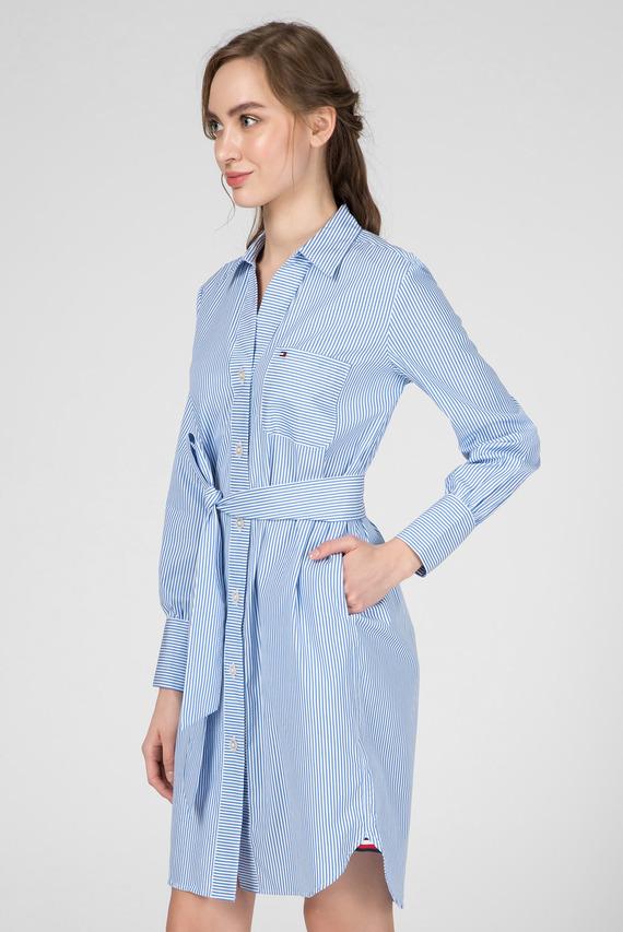 Женское голубое платье в полоску LARA