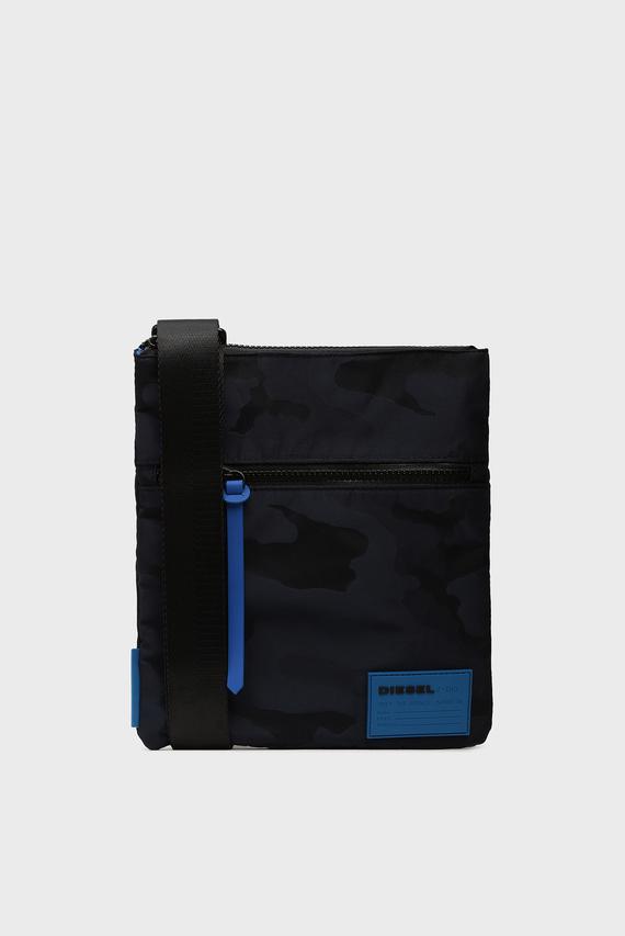 Мужская темно-синяя сумка через плечо DISCOVER-UZ