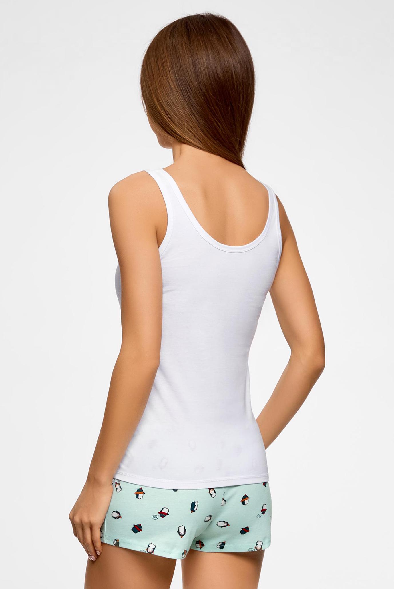 Женская  белая пижама Oodji