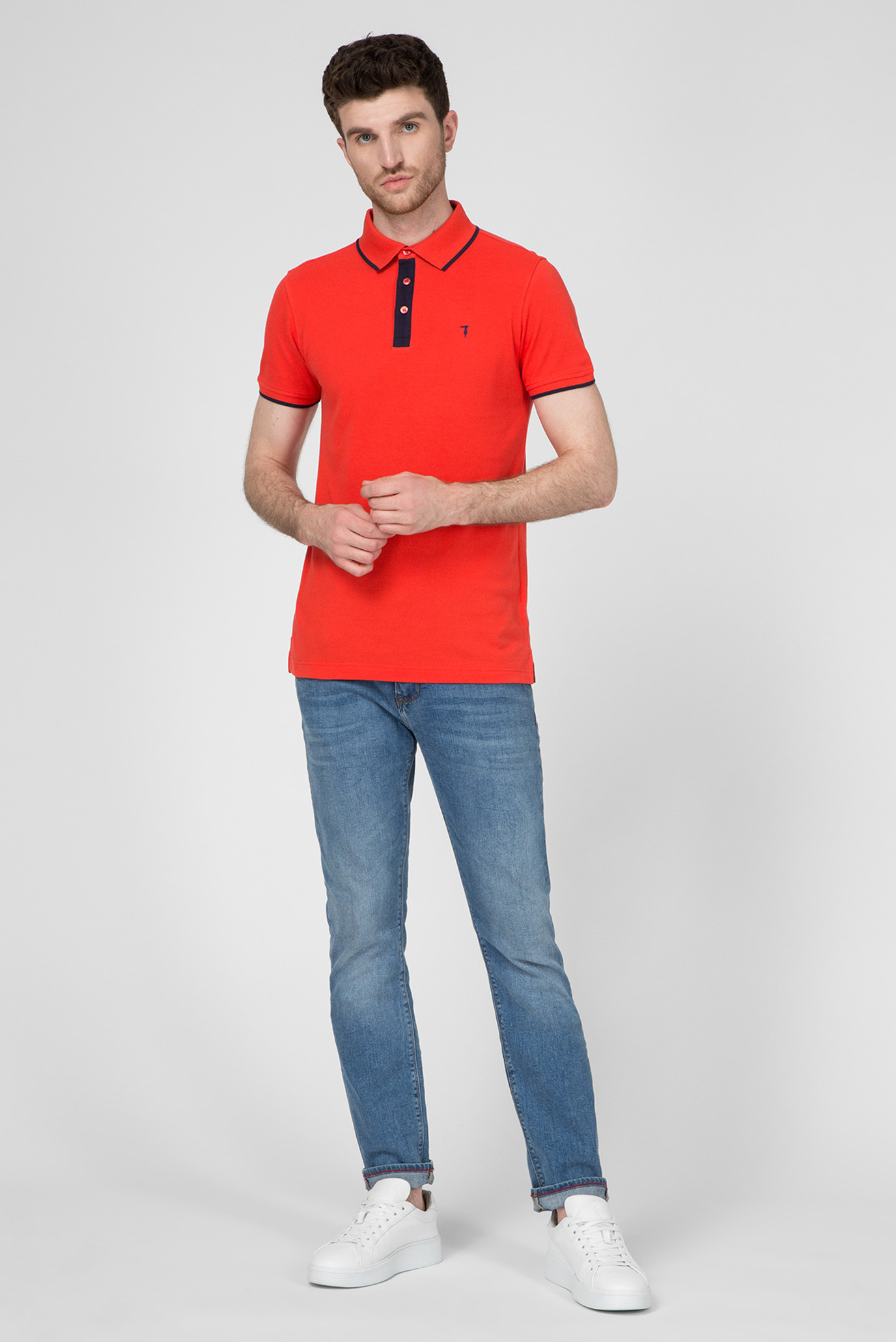 Мужское красное поло REGULAR FIT Trussardi Jeans