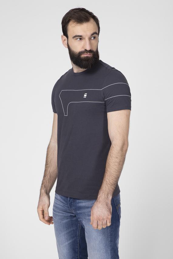 Мужская темно-серая футболка One Slim
