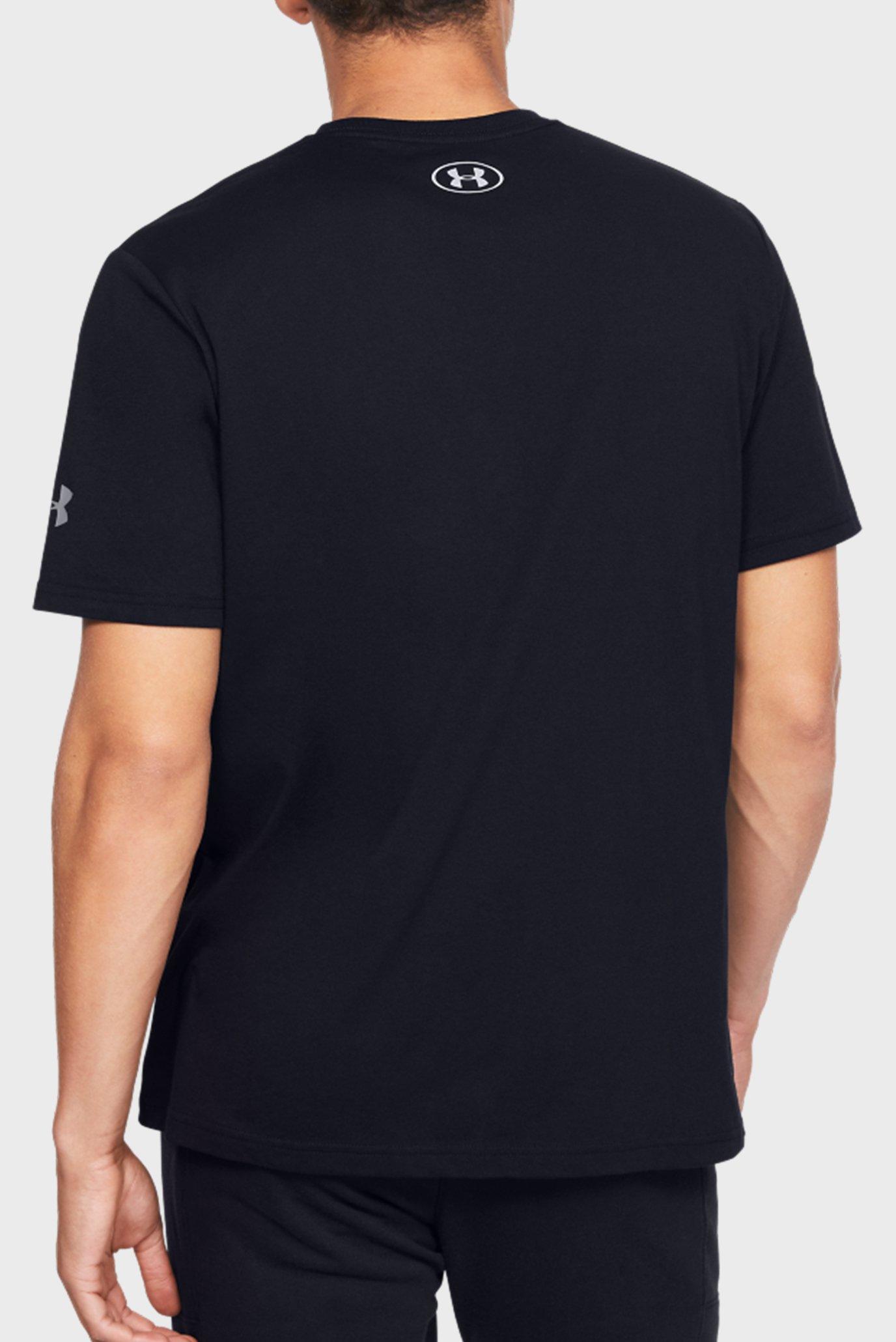 Мужская черная спортивная футболка с принтом BASELINE TEE QRTLY MANTRA Under Armour
