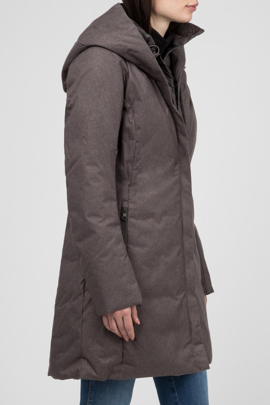 Женская серая пуховая куртка