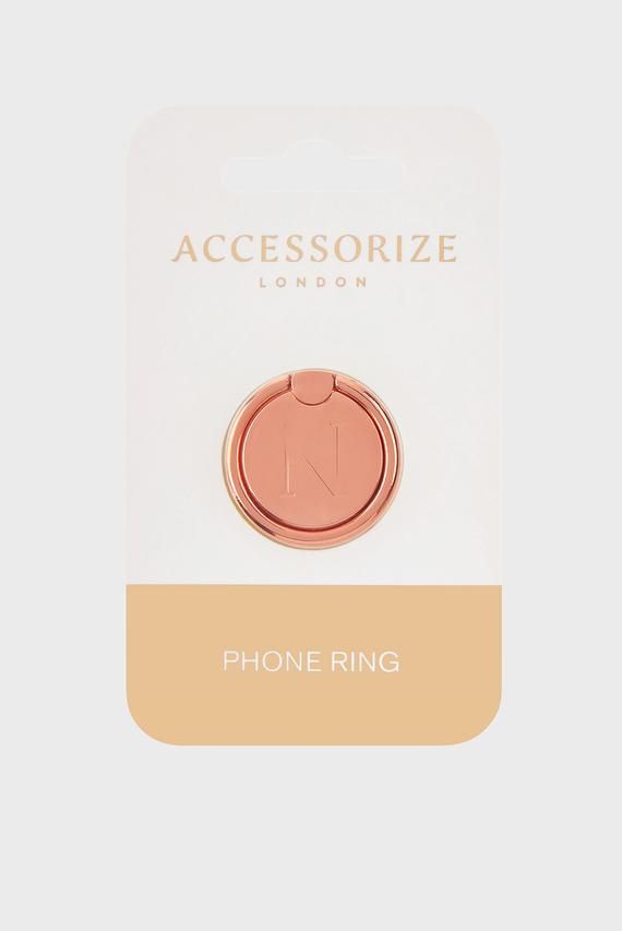 Золотистое кольцо для телефона Initial Phone Ring N