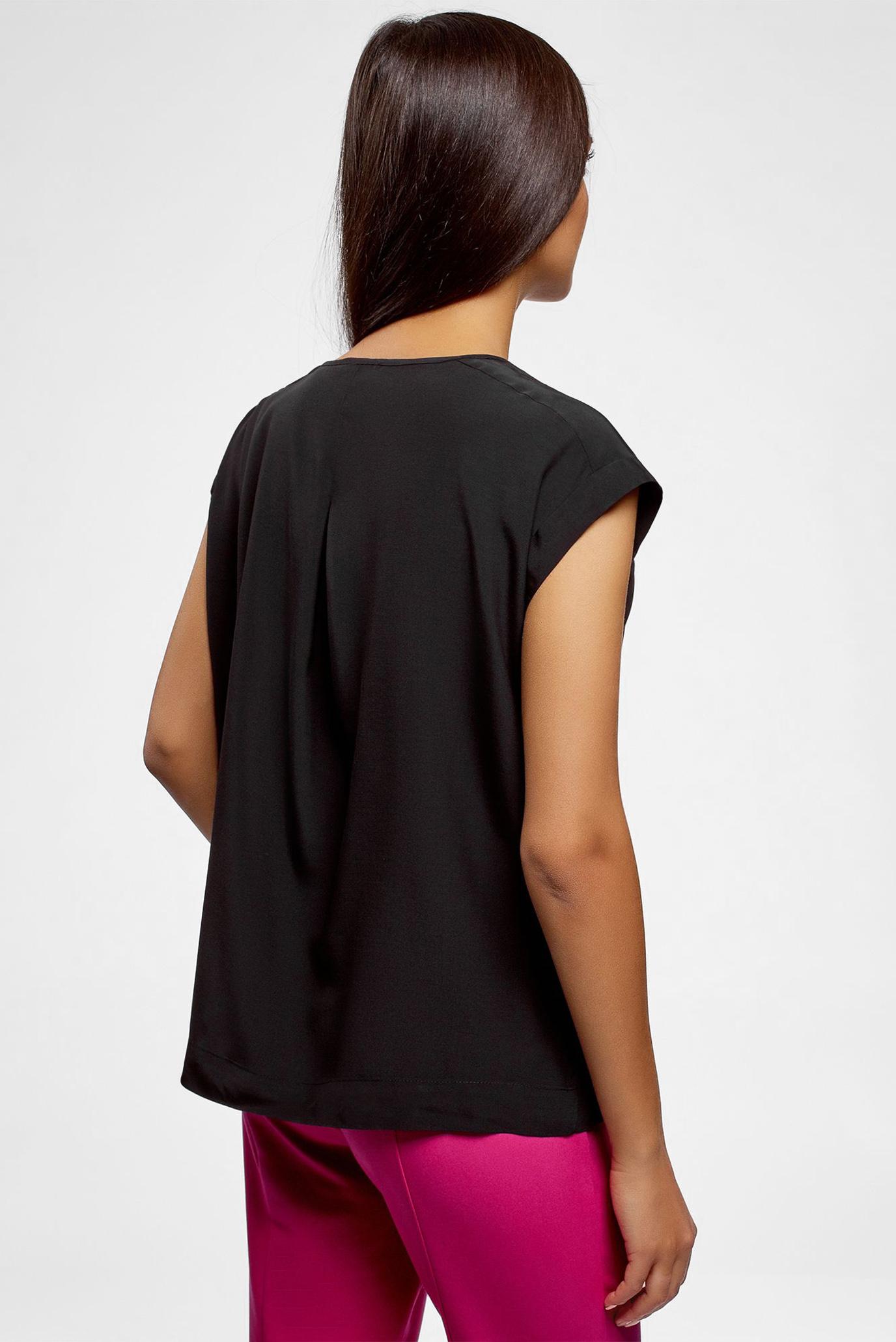 Купить Женская черная блуза Oodji Oodji 21405137/46868/2900N – Киев, Украина. Цены в интернет магазине MD Fashion