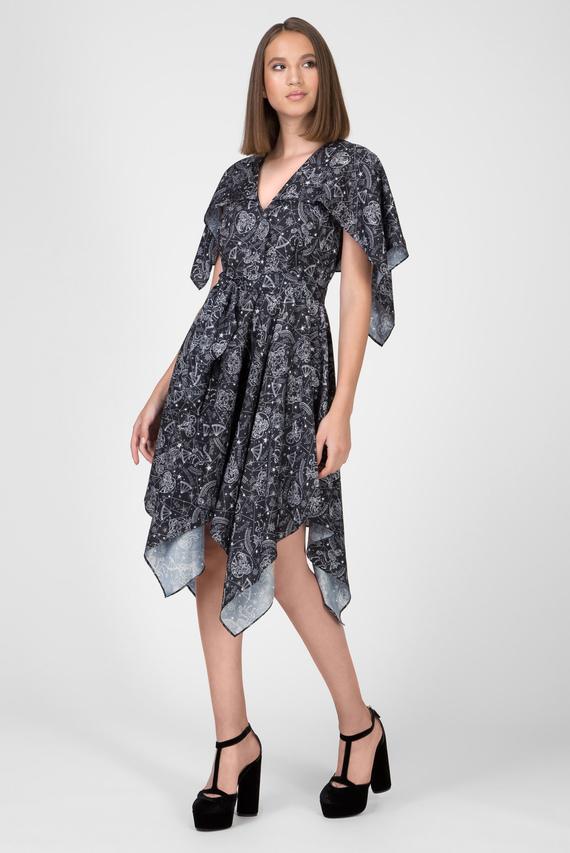 Женские черное платье с принтом ZENDAYA AF