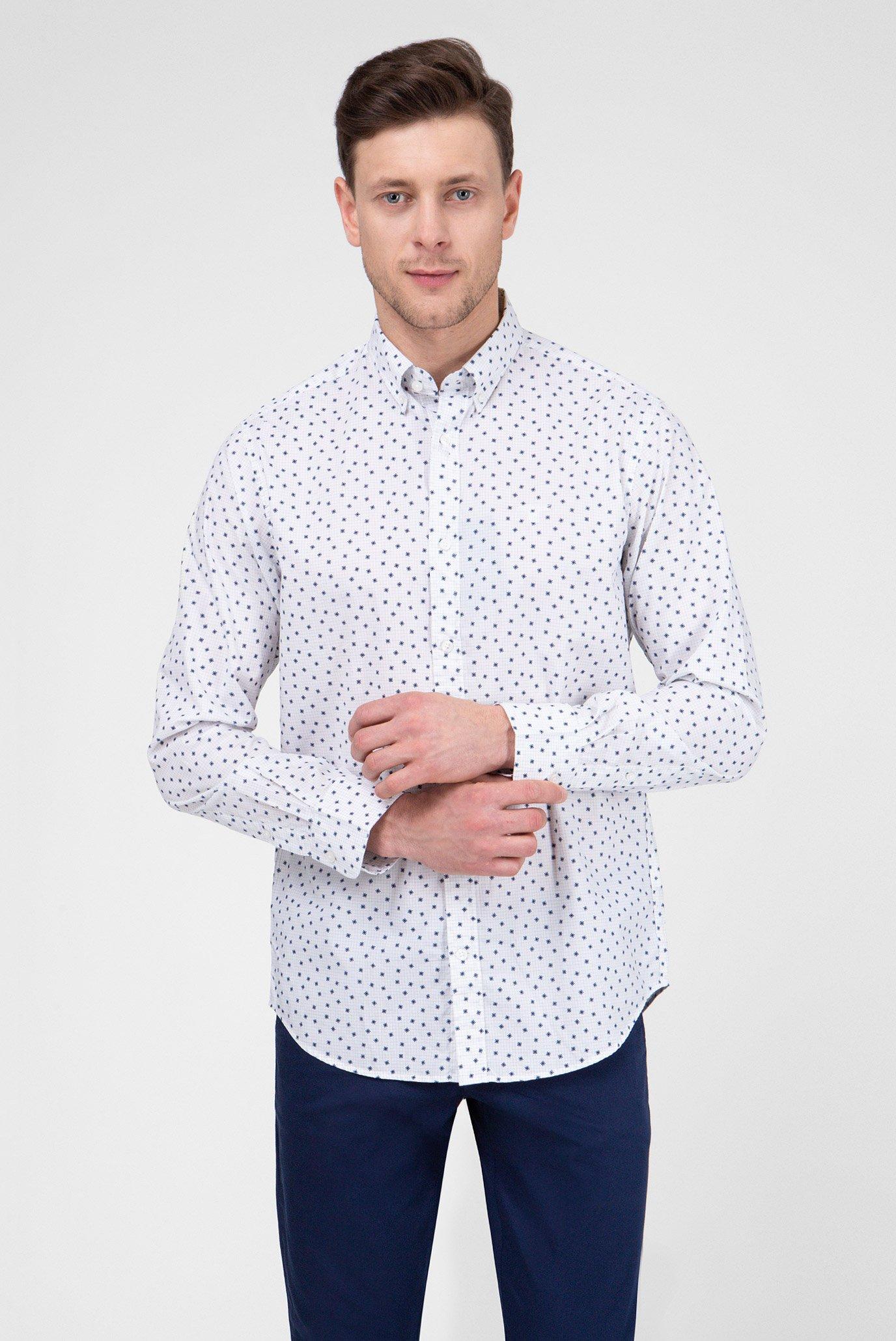 4bbeae06e45 Купить Мужская белая рубашка с принтом Gant Gant 3012830 – Киев ...