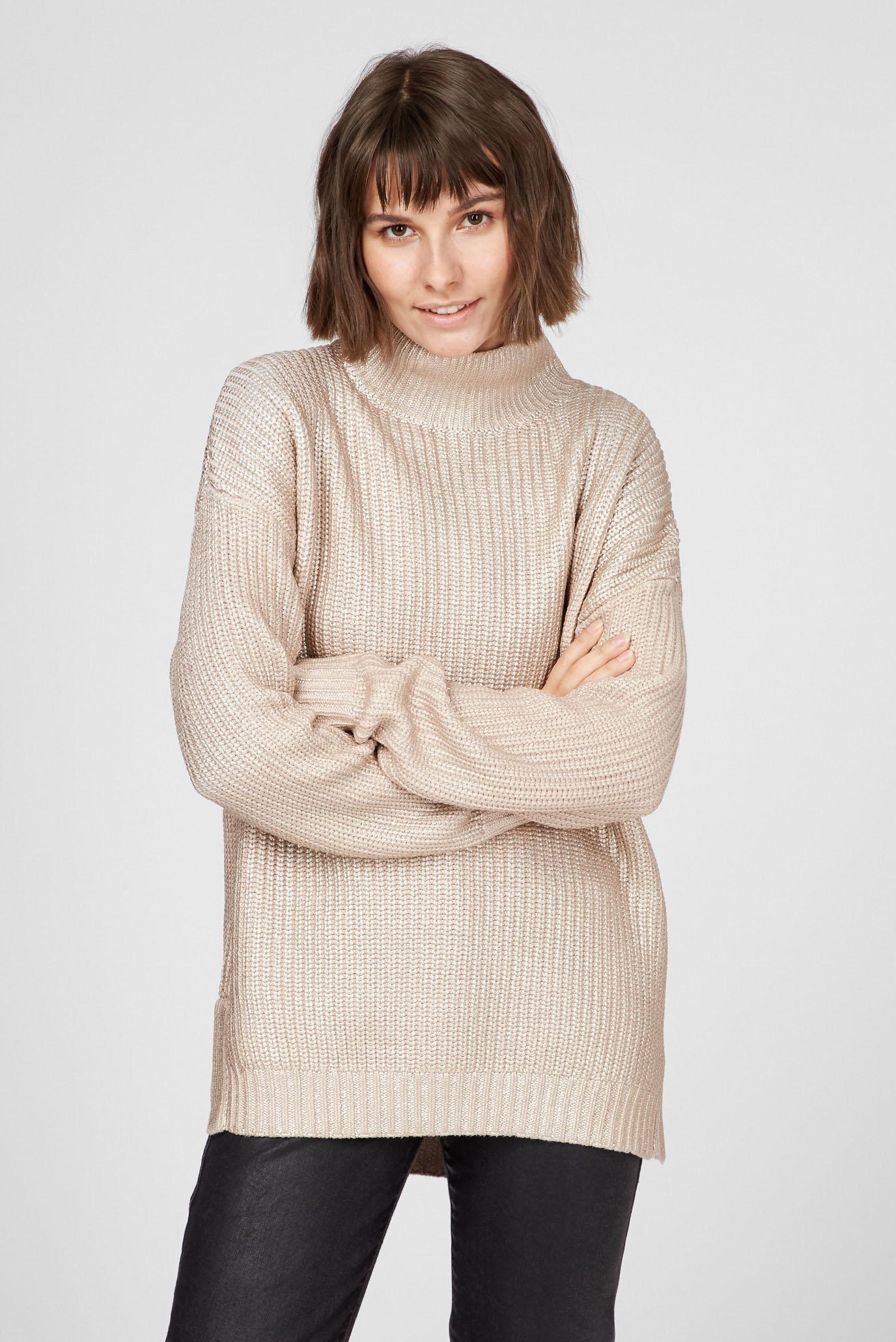 Женский бежевый свитер 1