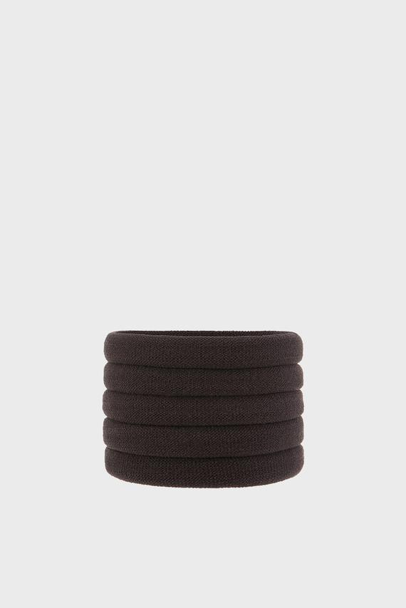 Женские коричневые резинки для волос (5 шт)