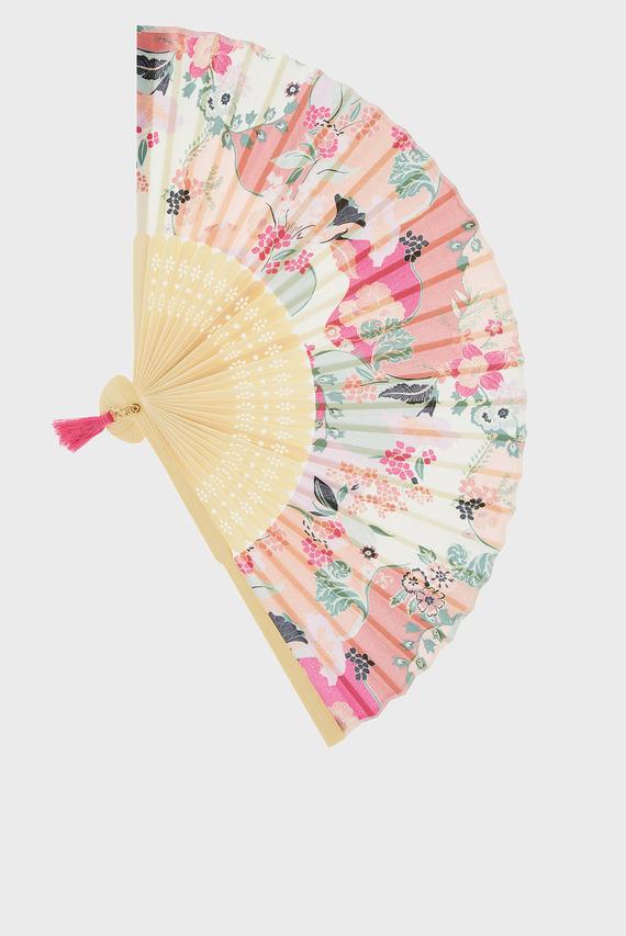 Женский розовый веер LADYLIKE PRINT FAN
