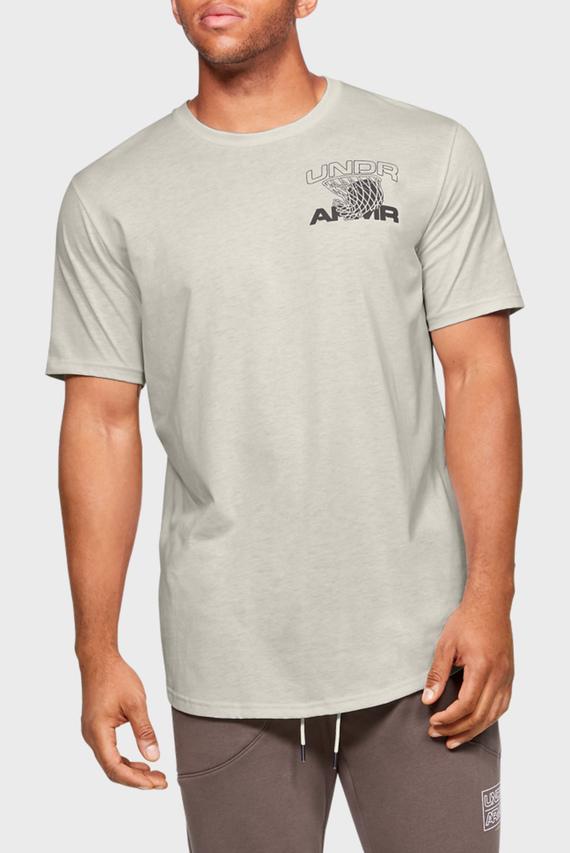 Мужская белая спортивная футболка UA PURSUIT TEE