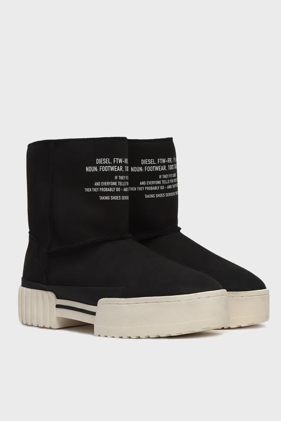 Женские черные кожаные угги MERLEY / S-MERLEY LC