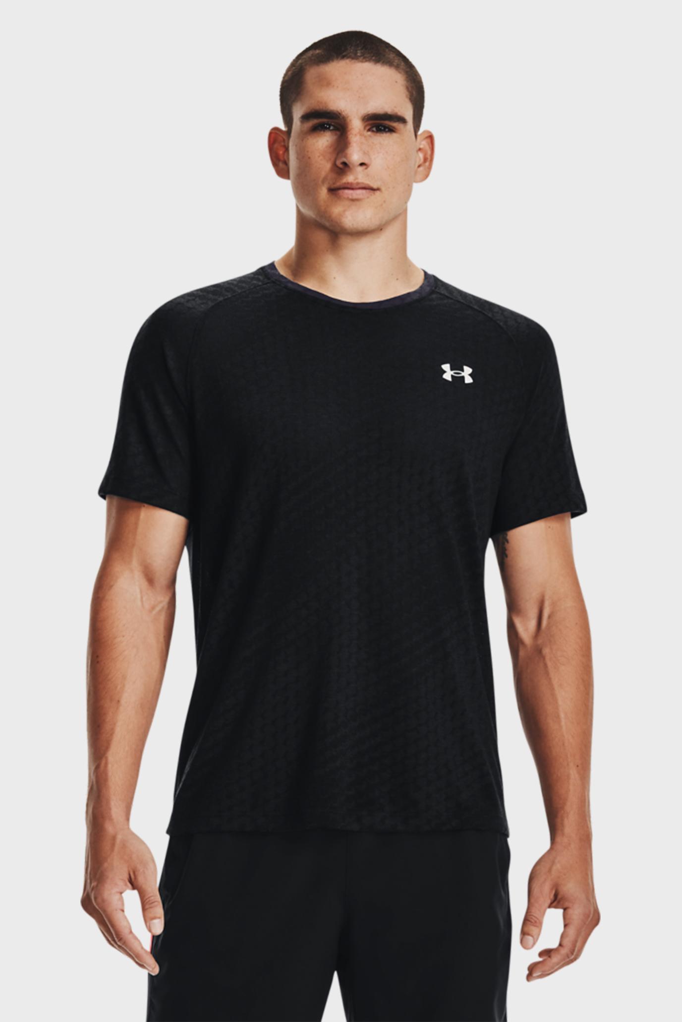 Чоловіча чорна футболка UA Streaker Runclipse SS-BLK 1