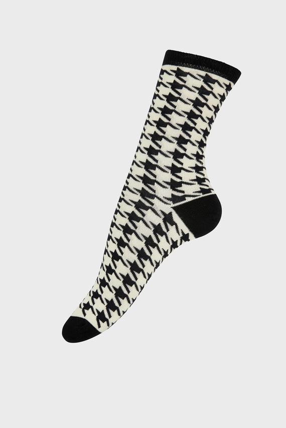 Женские хлопковые носки DOGTOOTH MONO SOCK