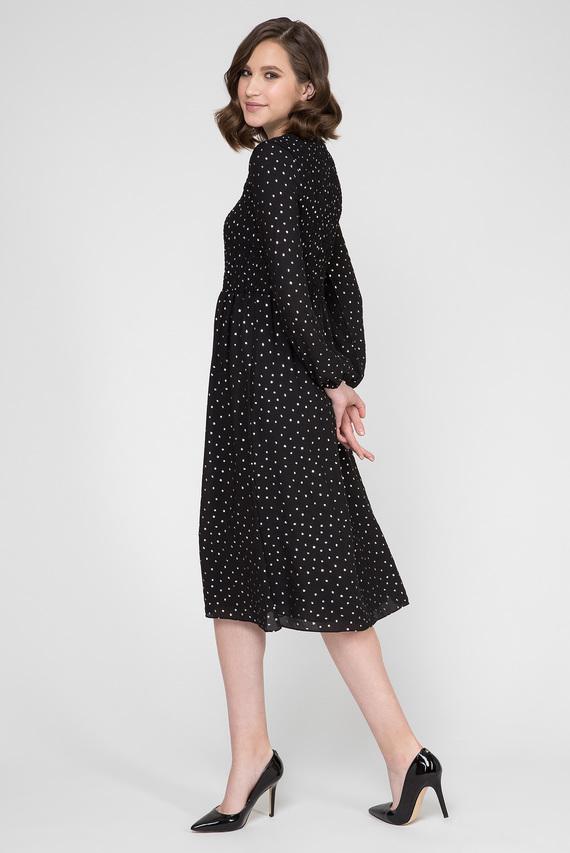 Женское черное платье TJW SMOCK DETAIL MIDI