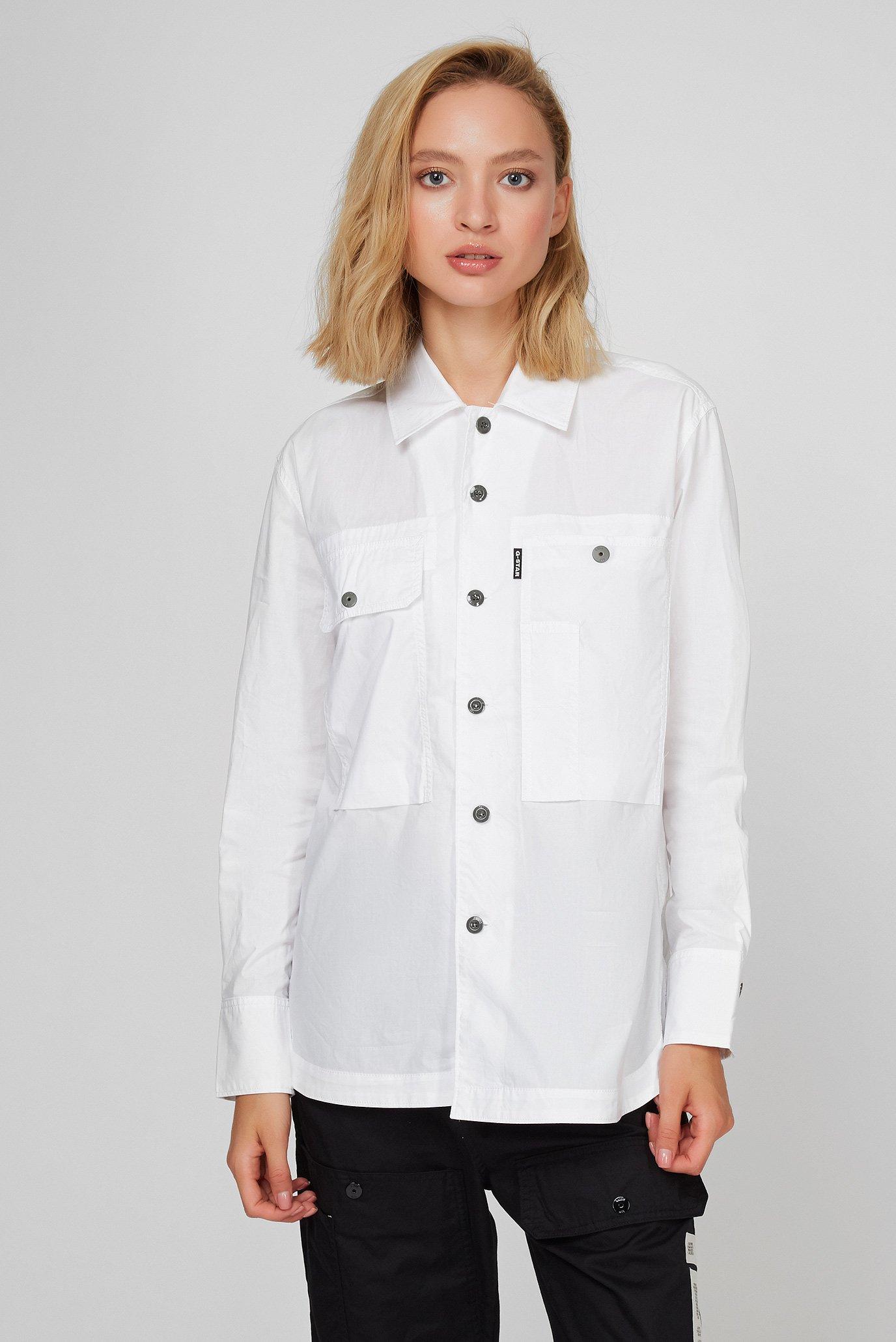 Жіноча біла сорочка Boyfriend 1