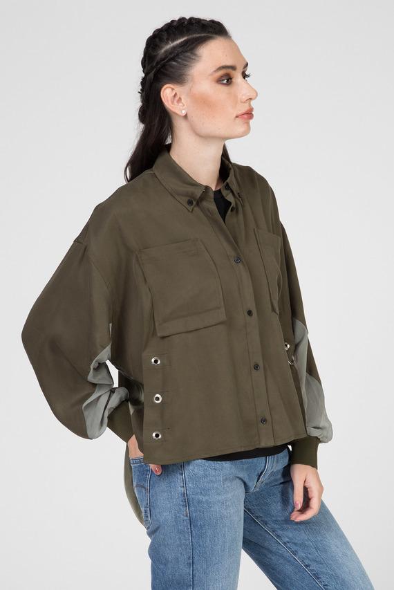 Женская зеленая рубашка C-LEXYS CAMICIA