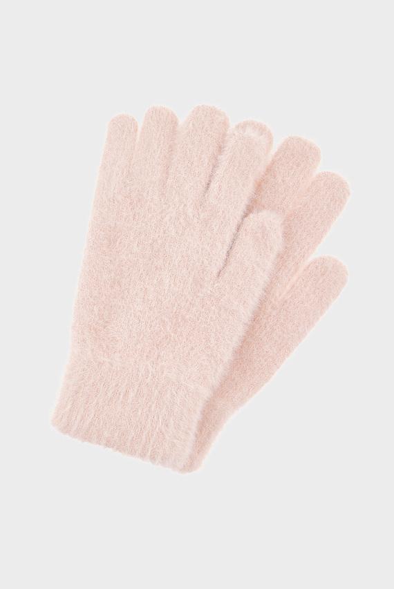 Женские розовые перчатки FLUFFY SUPERSTRETCH