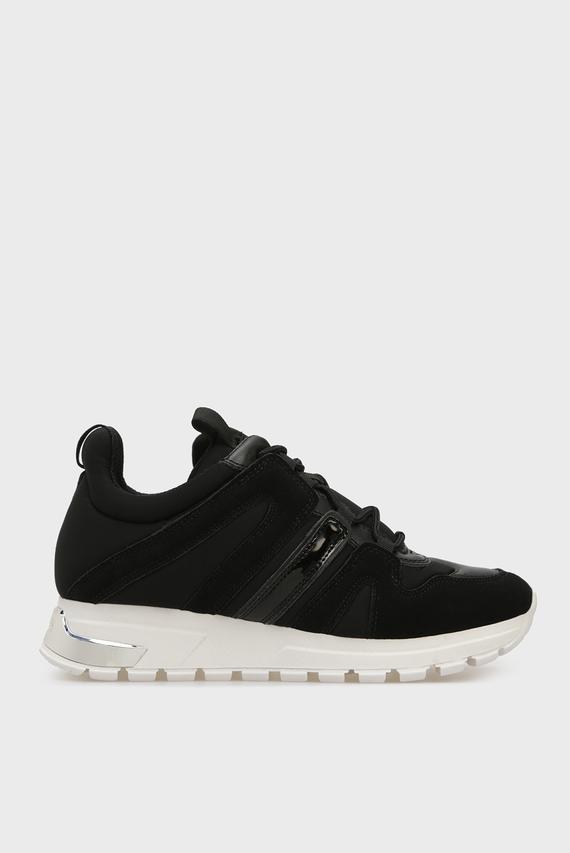 Женские черные замшевые кроссовки MAY