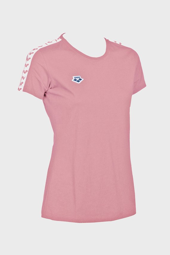 Женская розовая футболка TEAM
